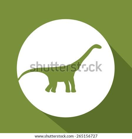prehistoric design over green