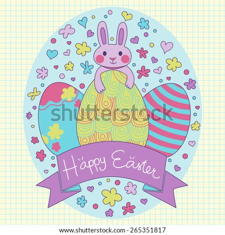 happy easter card in vector
