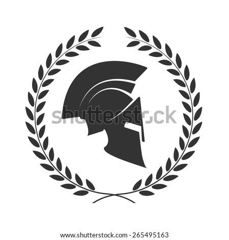 icon a spartan helmet in a