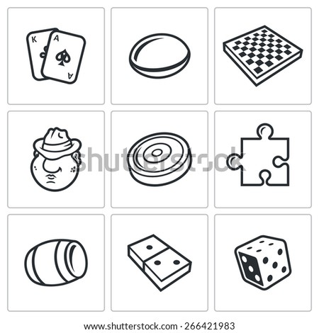 board games icons  card  go