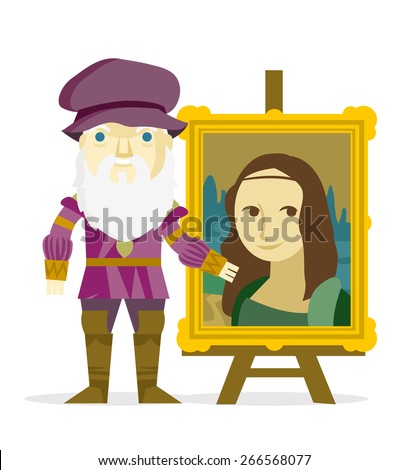 da vinci showing the mona lisa