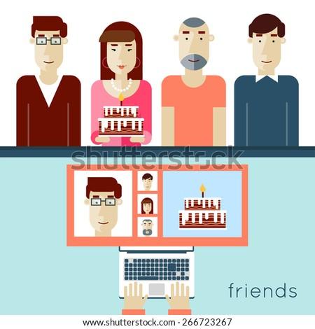 network friendship  modern life
