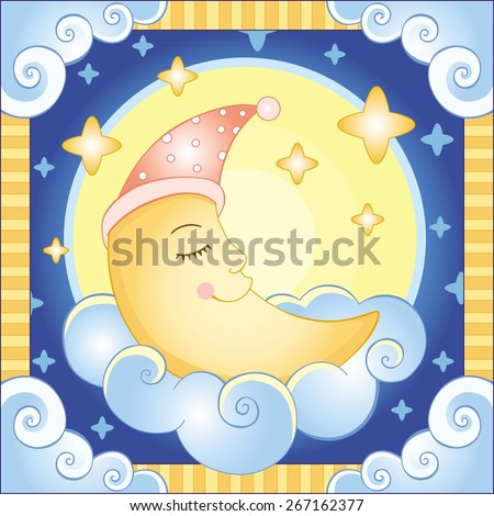 the moon vector illustration of