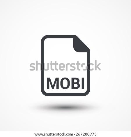 mobi ebook file extension icon