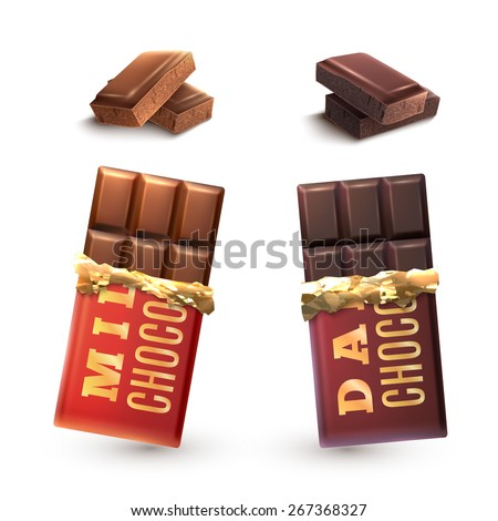 milk and dark chocolate bars