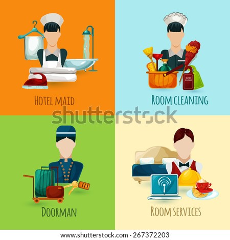 hotel maid and doorman design