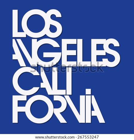 los angeles sport typography  t