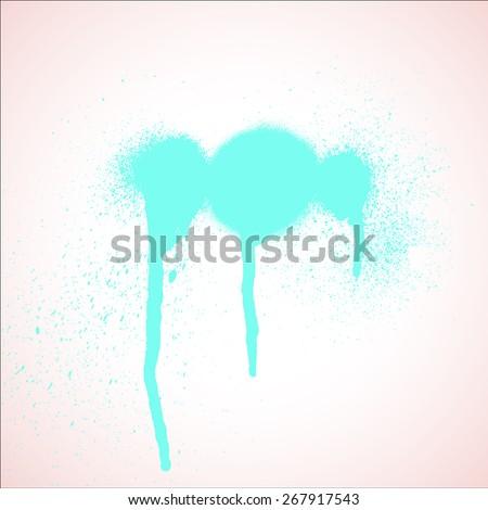 grunge paint spray