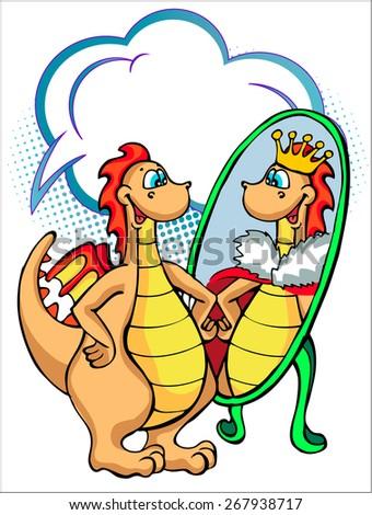 dinosaur with good self esteem