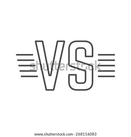 grey outline versus sign like
