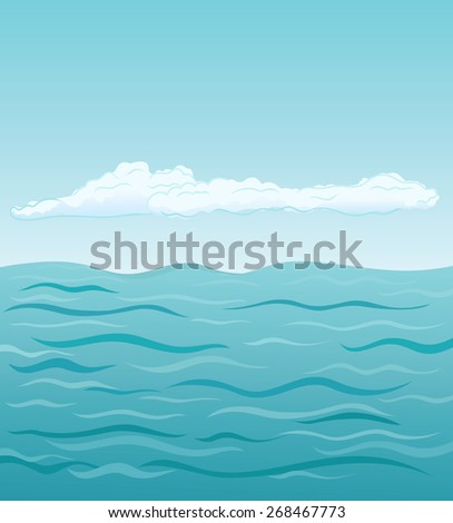 sea and clouds  vector