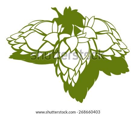 hop cones clipart images