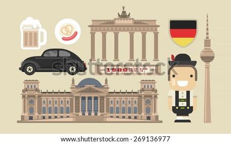 flat modern vector berlin  the