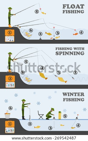 fishing infographic float