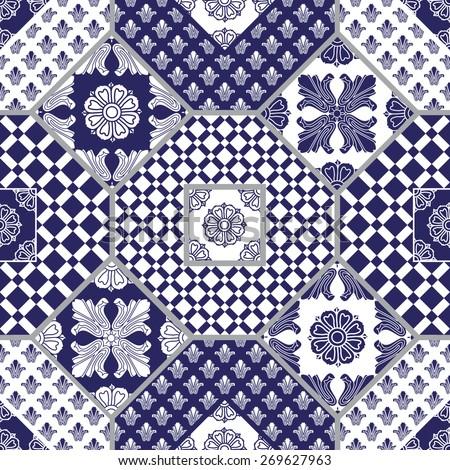 vector seamless patchwork