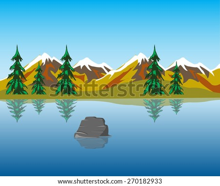 the beautiful lake in mountain