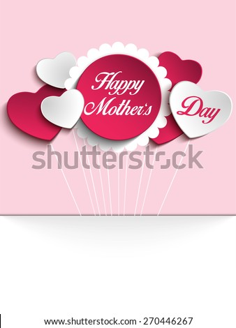 vector   happy mother day heart