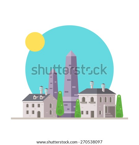 flat design of luxor obelisk