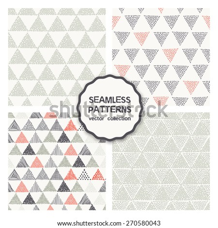 vector set of four seamless