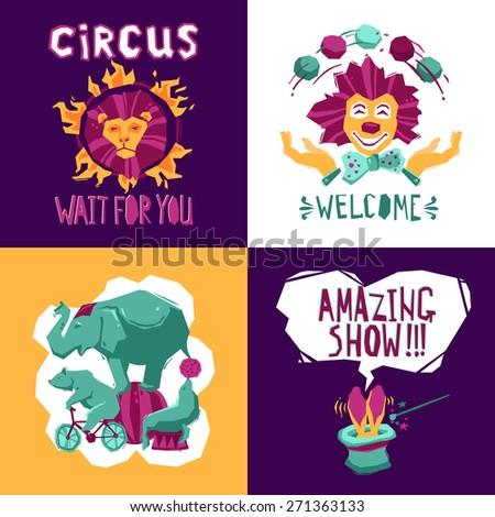 circus design concept set with