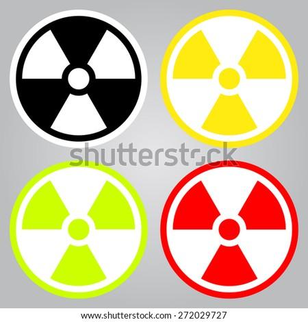 radioactive symbol in flat
