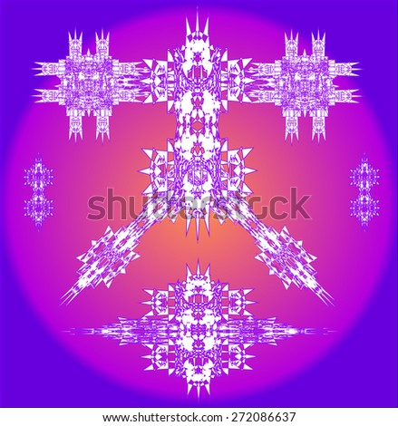 purple robots vector set