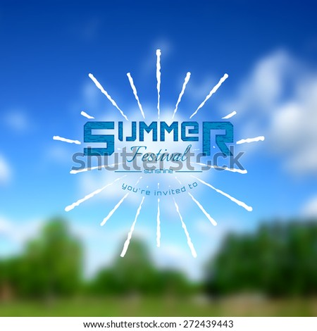 summer festival realistic badge