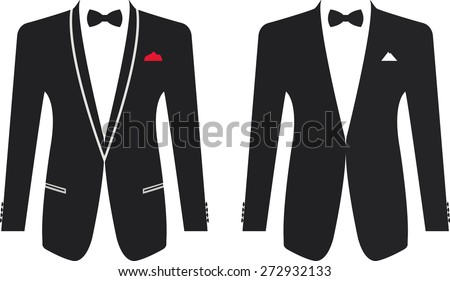 men formal suit on a white