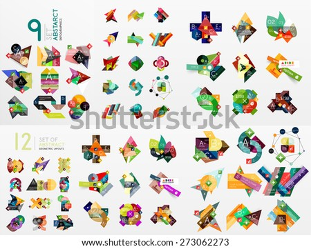 set of vector abstract paper