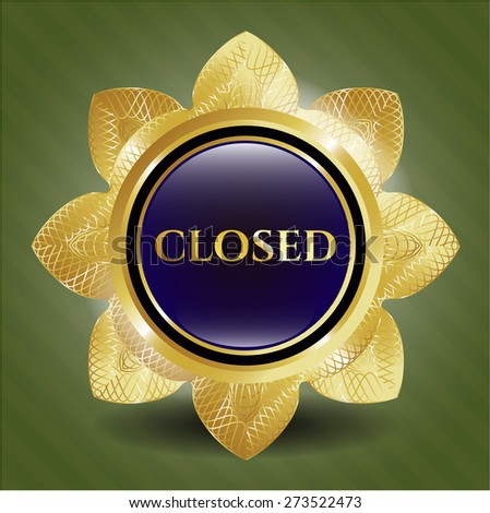 closed golden flower with green