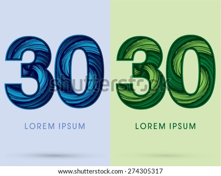 30  abstract number   font