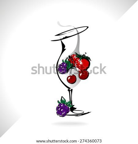 cocktail drink fruit