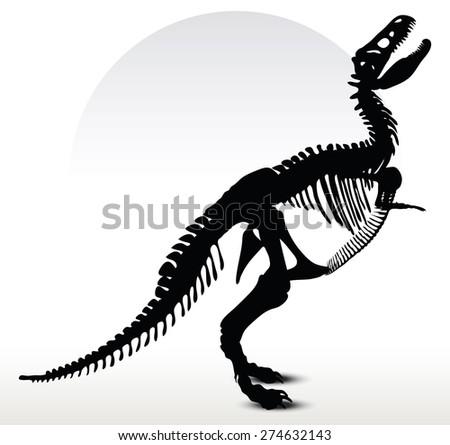 vector image   dinosaurs trex