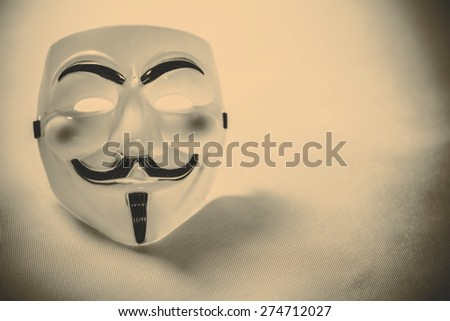 white anonymous mask on white