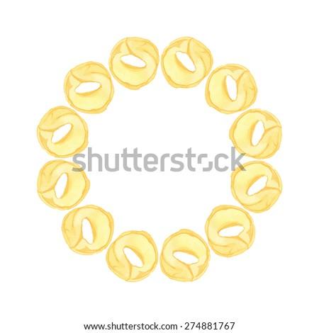 tortellini wreath hand drawn
