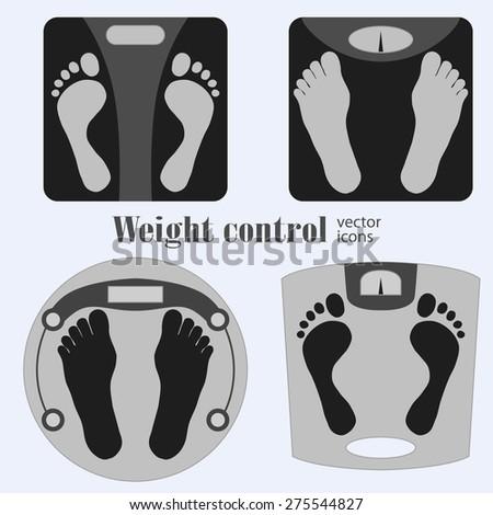 bathroom scales and footprint