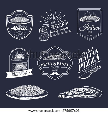 vector set of vintage hipster