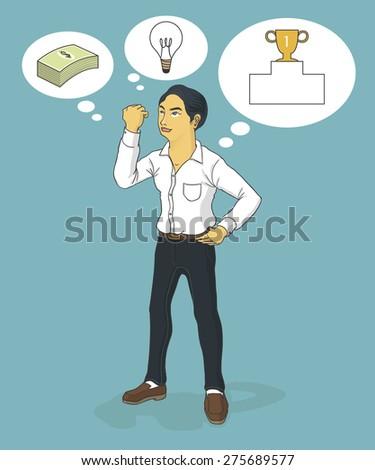 business man thinking ideas