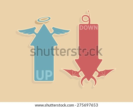 vector up and down arrows for