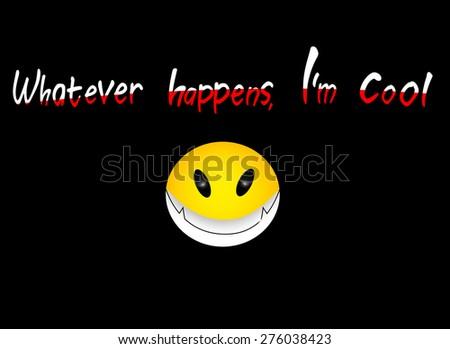 smile icon design over black