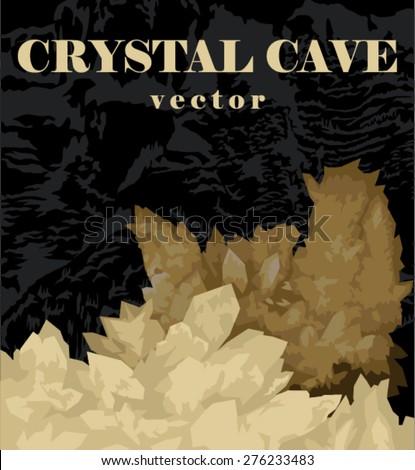 beautiful crystals of gypsum in