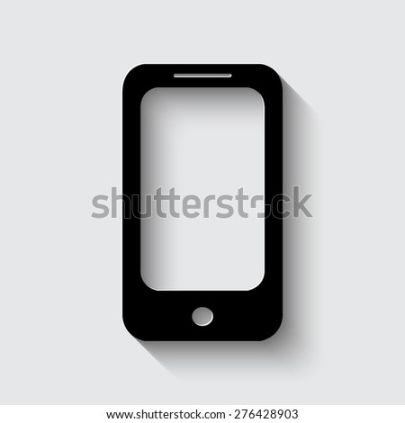 mobile phone icon  with shadow