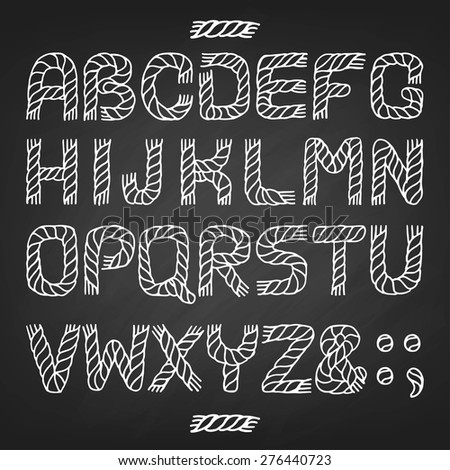 alphabet rope vector
