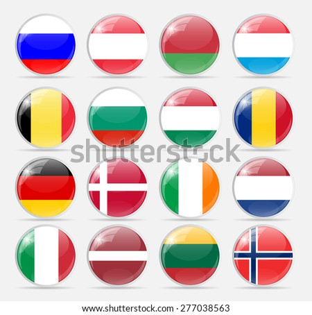 round flag icon vector