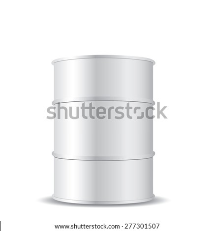 white metal barrel isolated on