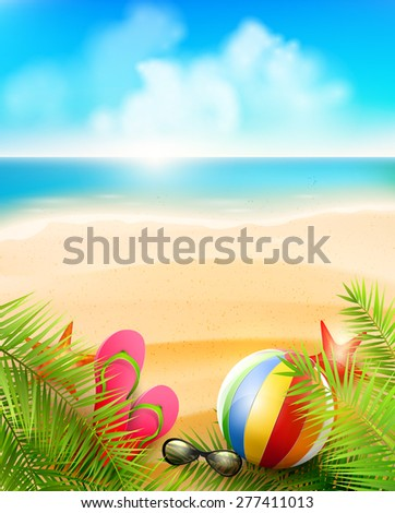 seaside view on beautiful sunny