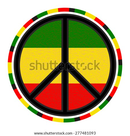peace sign round emblem on