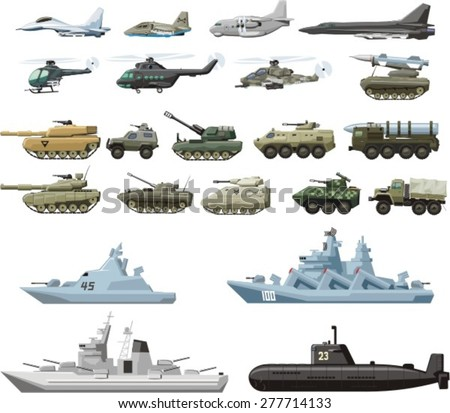 set of the military combat