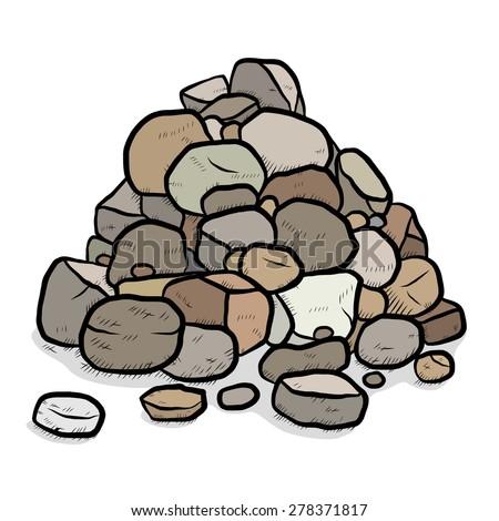 stack of rocks   cartoon vector