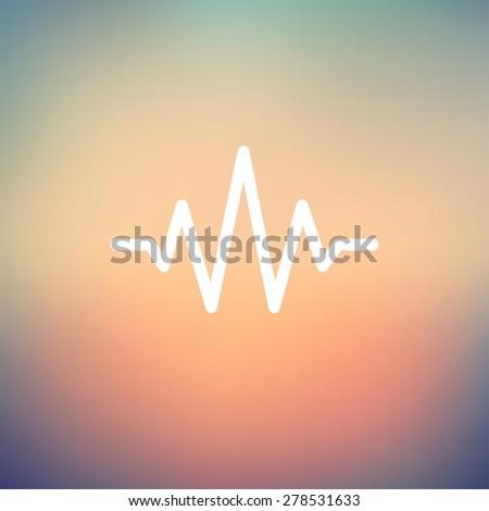 sound wave beats icon thin line